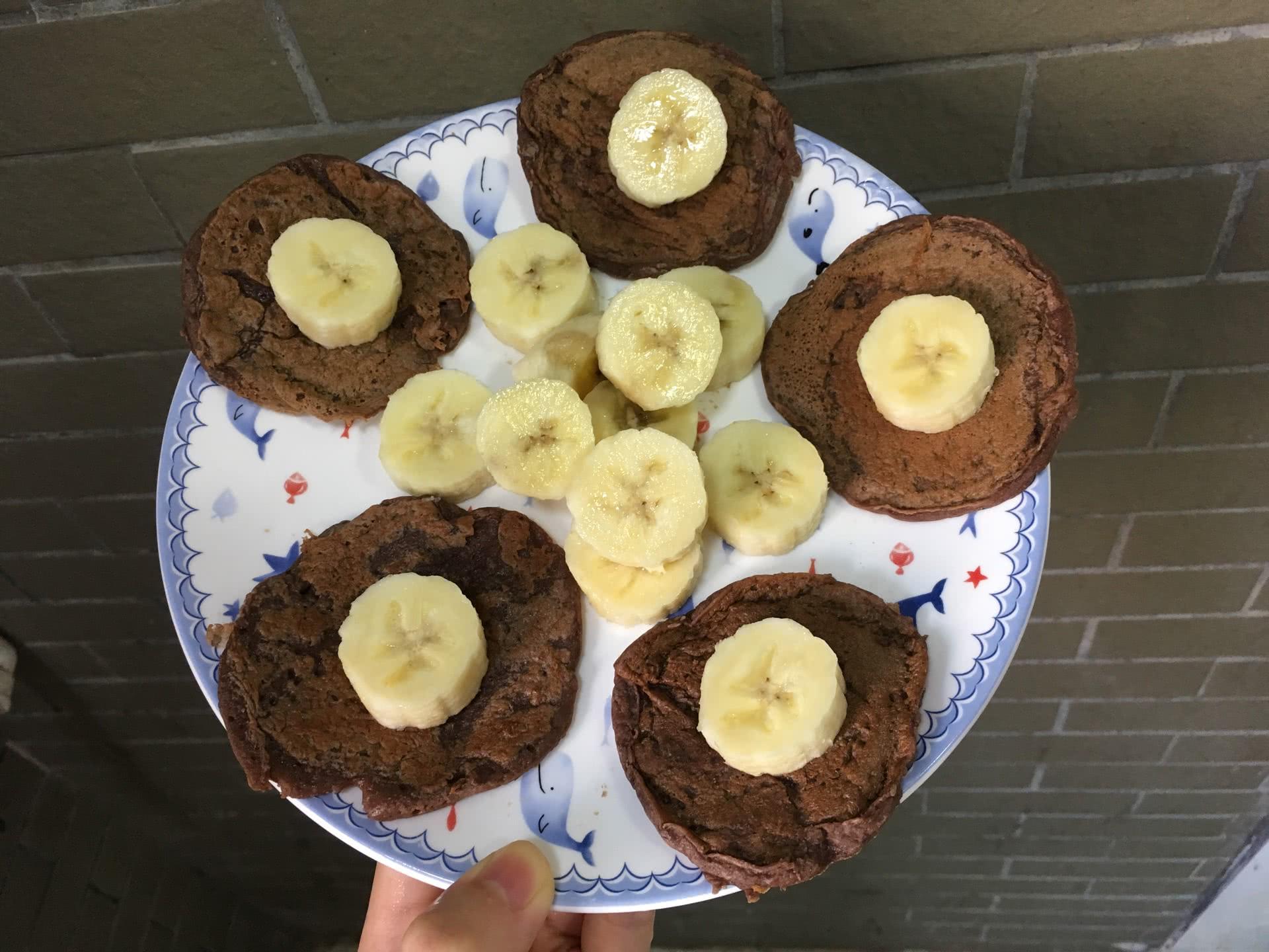 【低脂】蛋白粉香蕉煎饼的做法图解5
