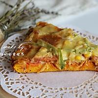 南瓜干虾健康披萨