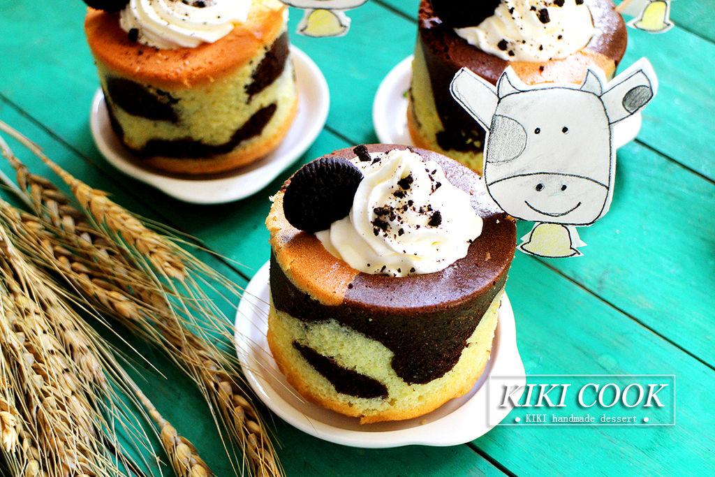 辅料   可可粉5g 200g 糖粉20g 奥利奥饼干适量 可爱奶牛蛋糕杯#有