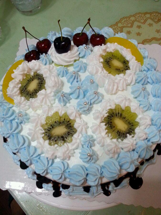 向日葵~*^_^*蛋糕的做法_【图解】向日葵~*^_^*蛋糕