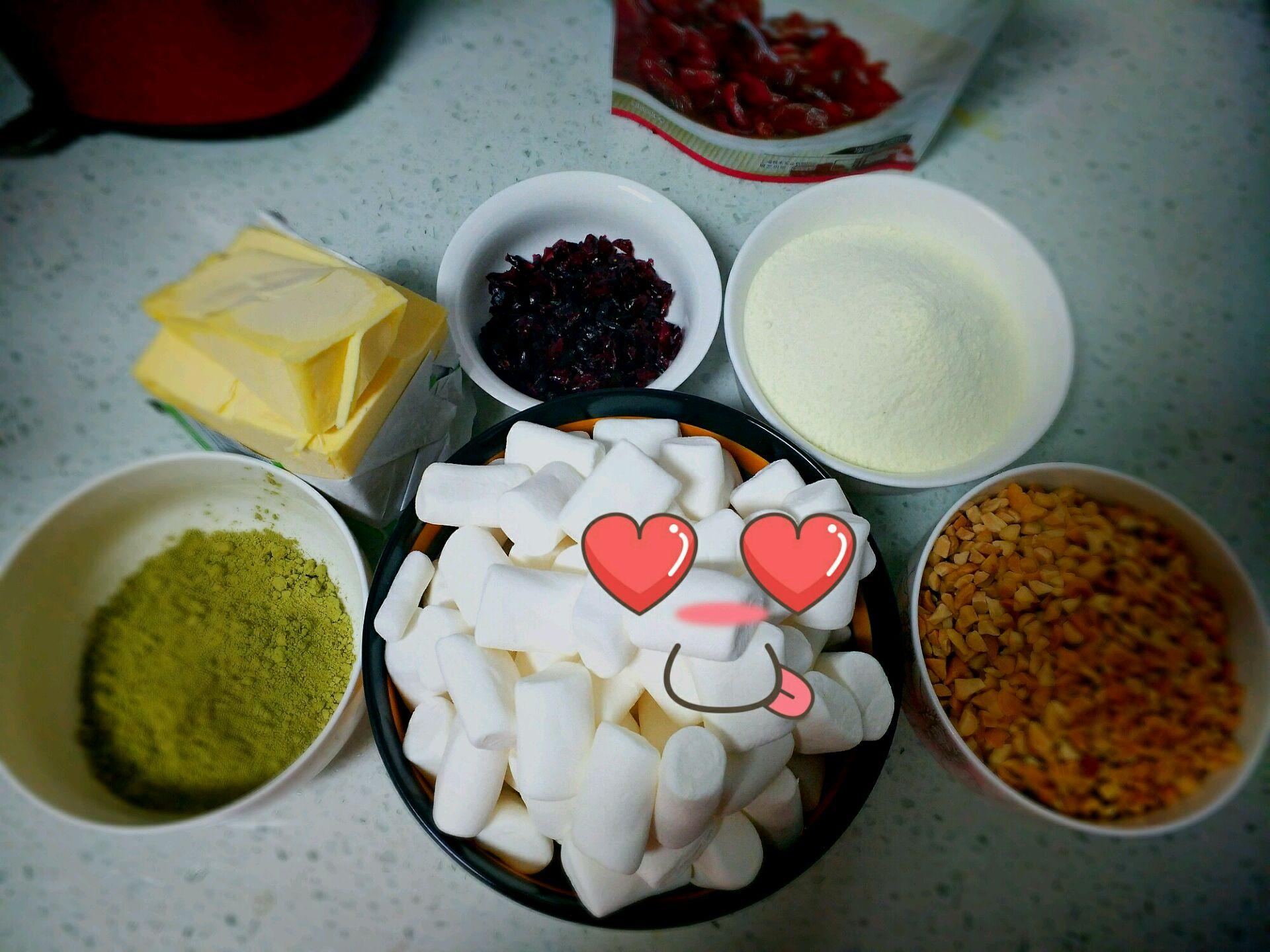 手工抹茶牛轧糖的做法步骤