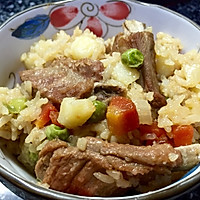 多彩排骨饭—电饭煲腹中的美食