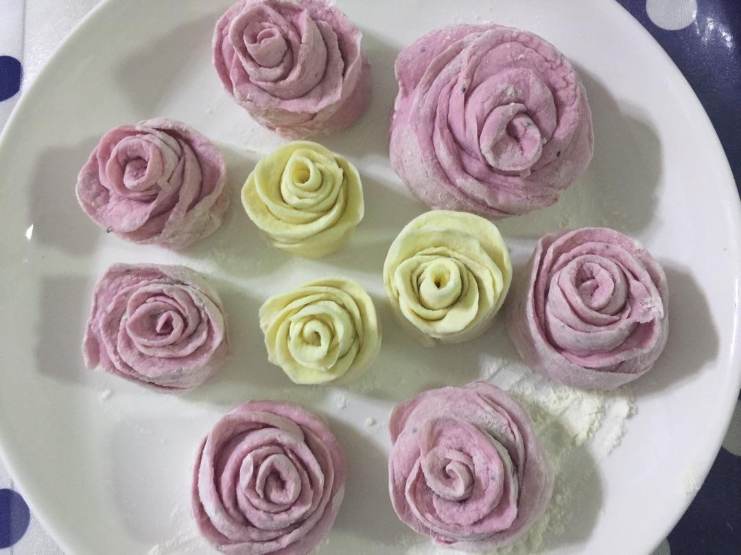 玫瑰花卷的做法图解2