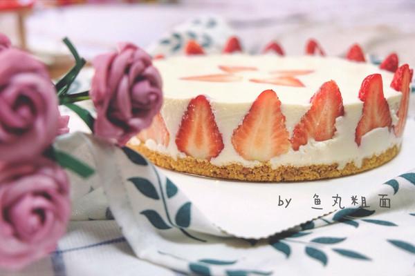 8寸草莓冻芝士蛋糕的做法