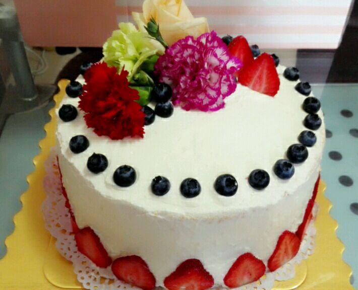 鲜花蛋糕的做法图解8