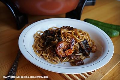中式鲜虾酸菜面---利仁电火锅试用菜谱