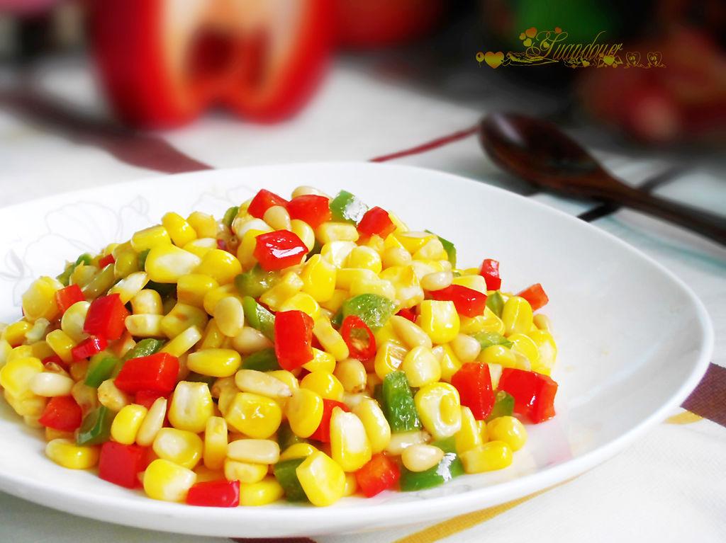 小米椒1只 盐 油 牛奶1勺 松仁玉米粒的做法步骤 分类:        本菜谱