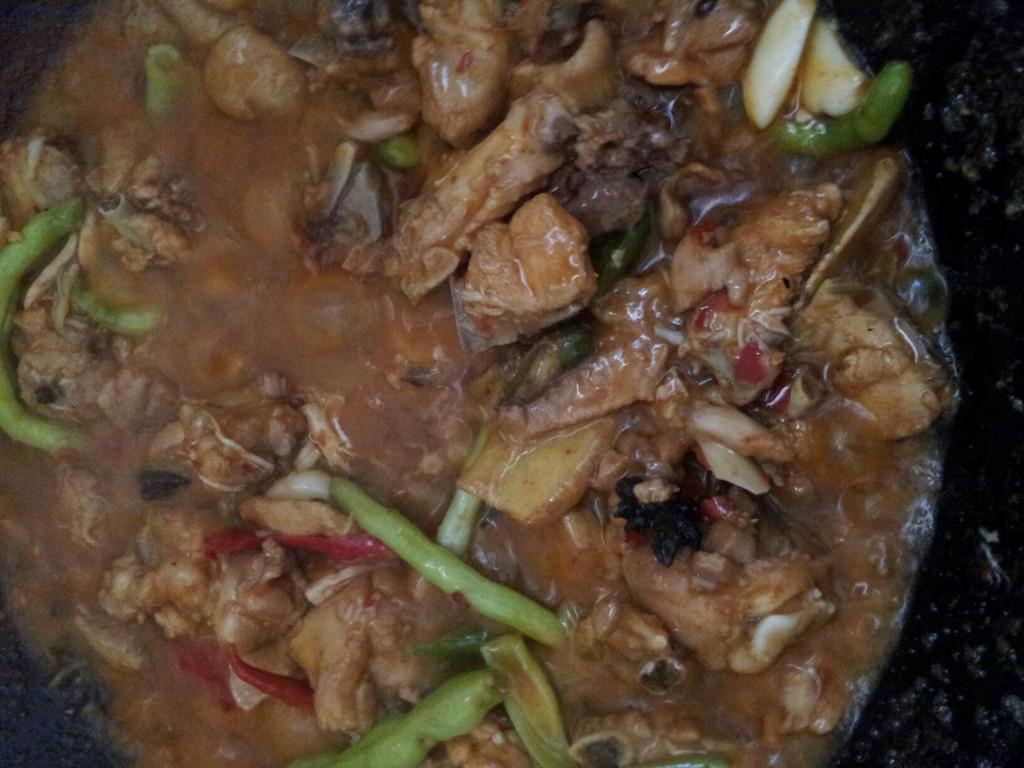 豆瓣酱炒鸡块的做法图解5压冬瓜炖气锅排骨汤图片