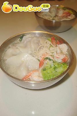 儿子的晚餐--水饺面的做法