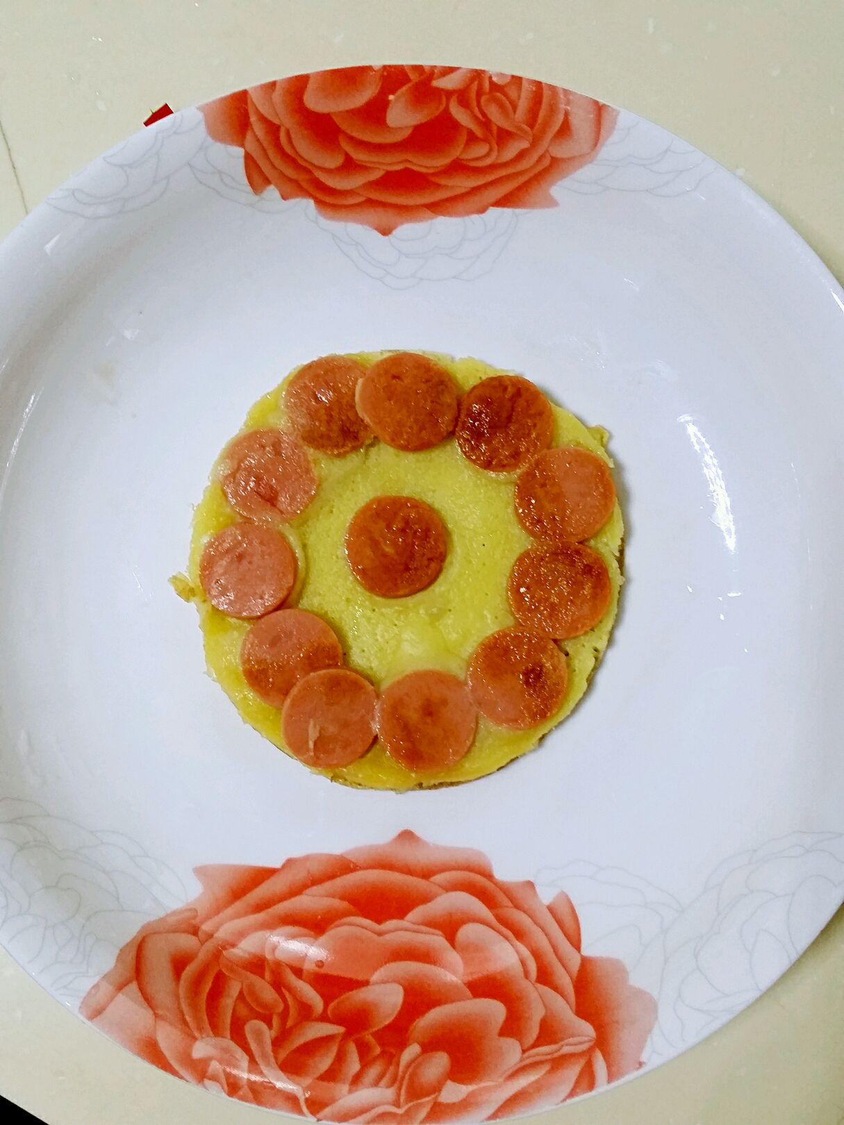 宝宝早餐之鸡蛋火腿饼的做法图解2