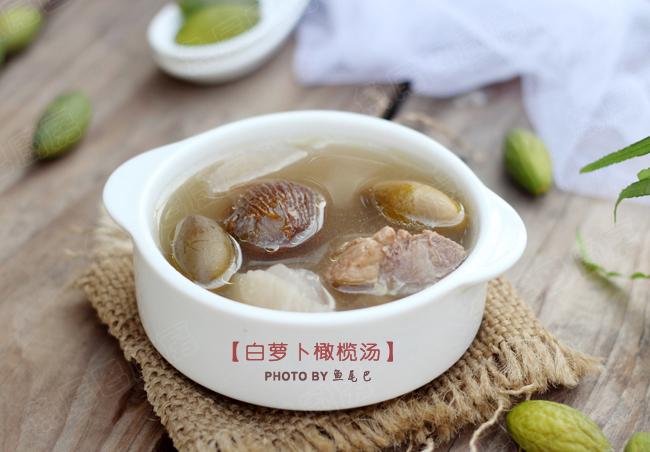 白萝卜橄榄汤的做法_【图解】白萝卜橄榄汤怎么做好吃