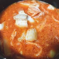 韩式五花肉辣白菜豆腐汤 思密达style 看韩剧必备宵夜的做法图解8