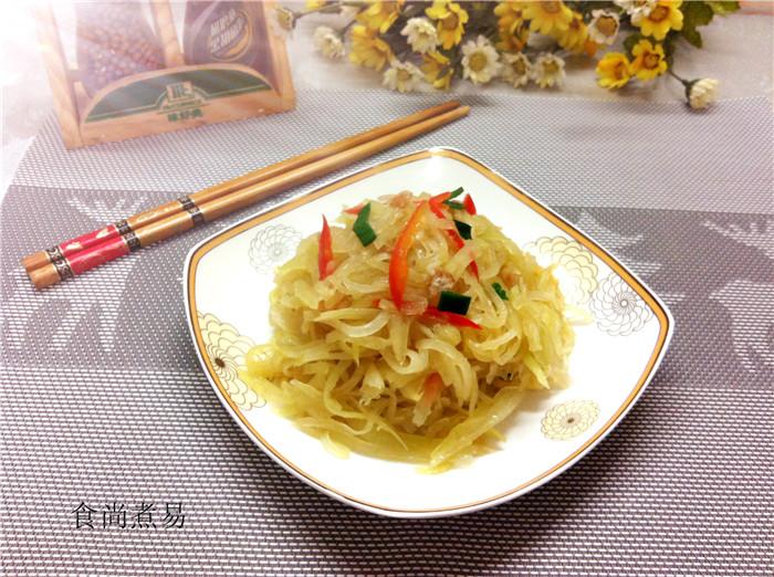 小炒木瓜丝的做法_【图解】小炒木瓜丝怎么做好吃