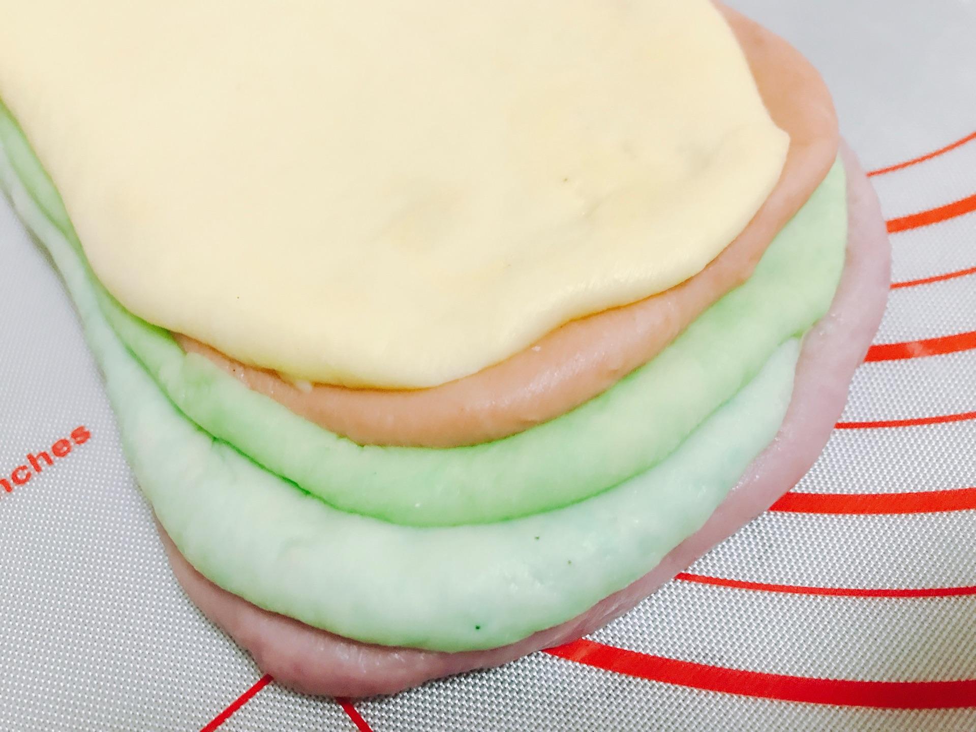 夏日小清新可爱 彩虹吐司面包 给宝宝爱心早餐#相约mof