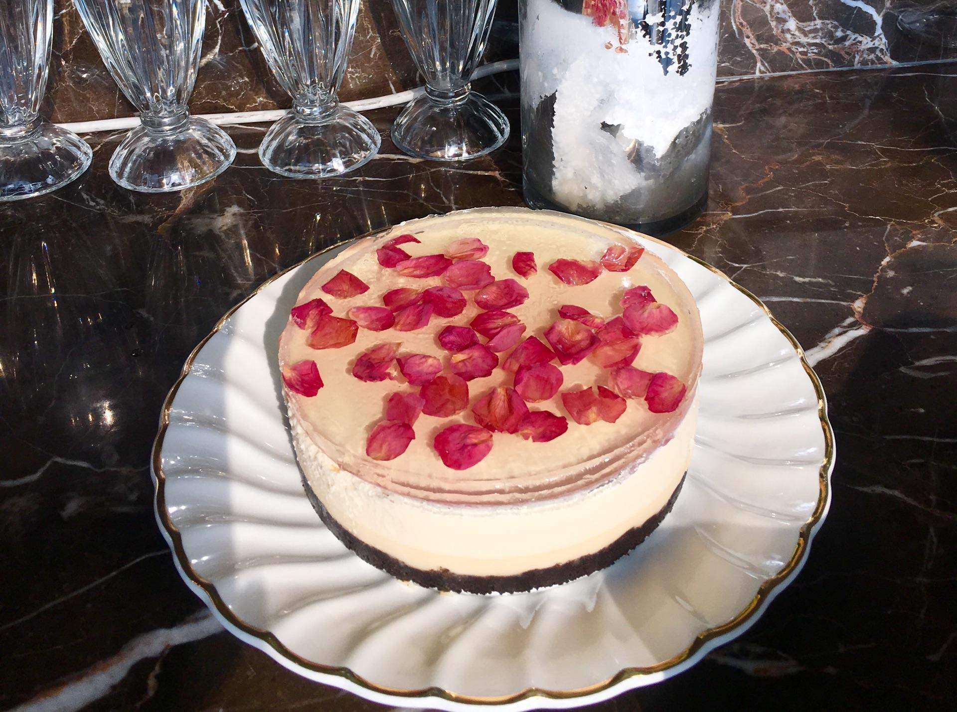 玫瑰花蛋糕的做法图片