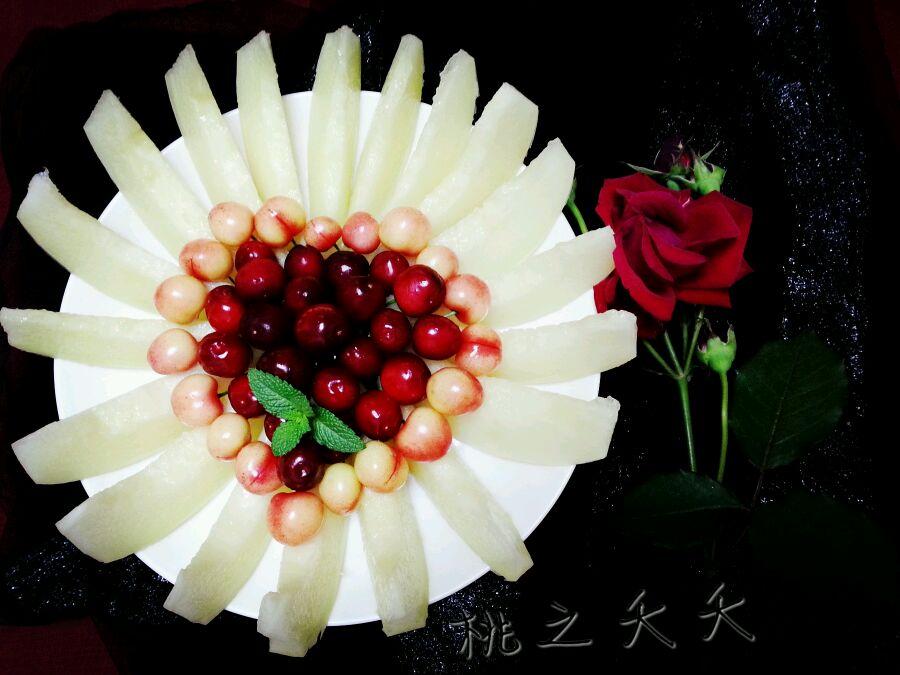 简单漂亮爱心水果拼盘的做法步骤
