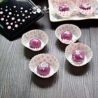 紫薯糯米糍#樱花味道#
