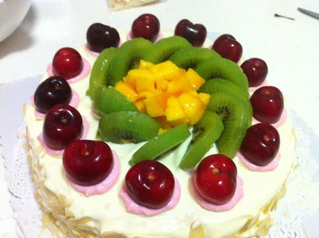 水果奶油生日蛋糕的做法图解15