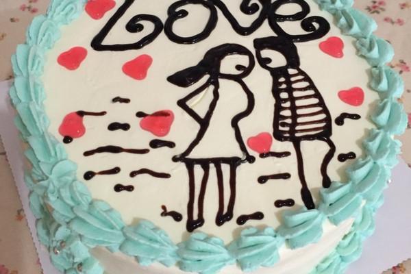 手绘蛋糕的做法
