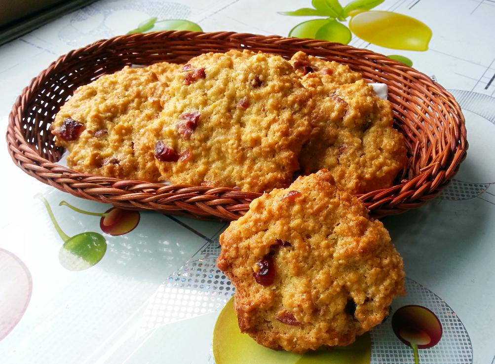 蔓越莓燕麦脆饼的做法_【图解】蔓越莓燕麦脆饼怎么做