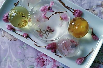 花之语水晶玄饼(可以吃的茶冻。美的不忍下口)