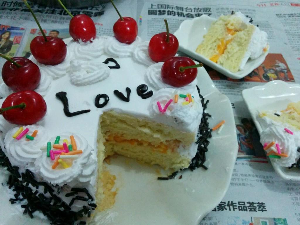打造出美腻的小清新蛋糕