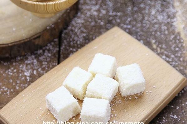 椰香牛奶小方的做法