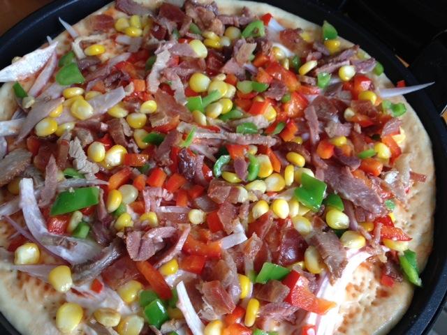 电饼铛芝士披萨的做法_【图解】电饼铛芝士披萨怎么做