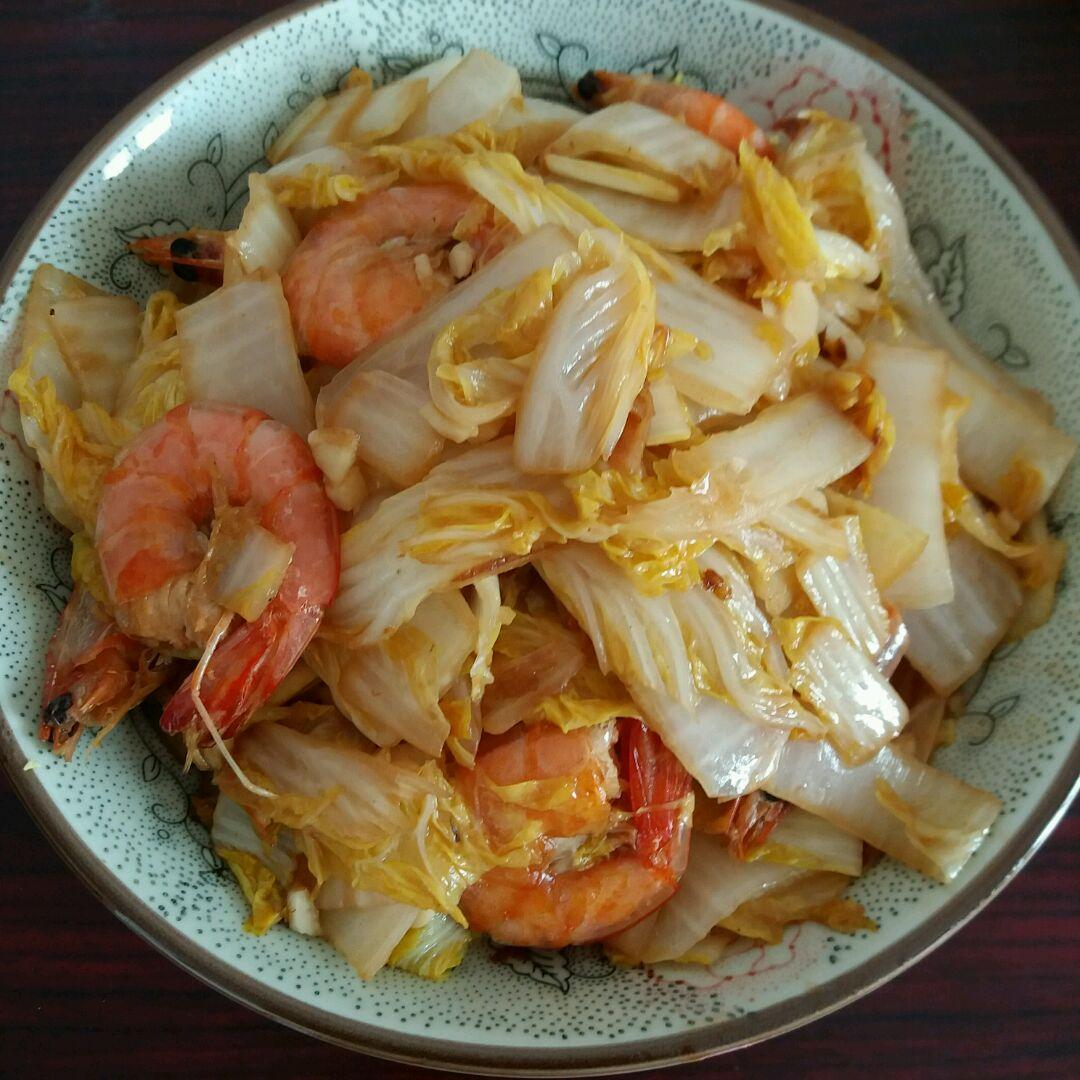 大虾烩白菜图片