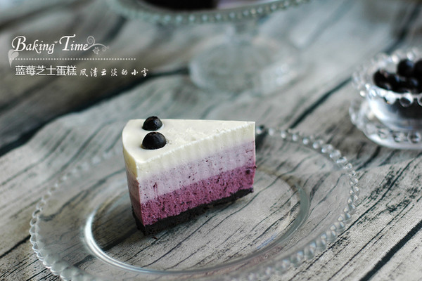 颜值爆增:蓝莓渐变芝士蛋糕的做法