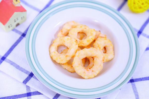 鲜虾圈  宝宝辅食食谱的做法