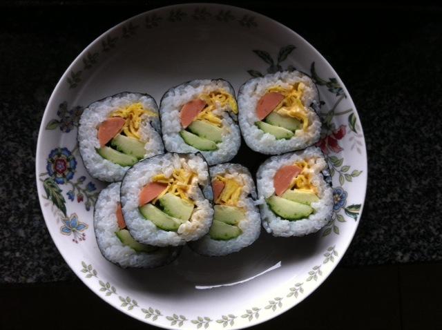 手卷寿司的做法 !-- 图解2