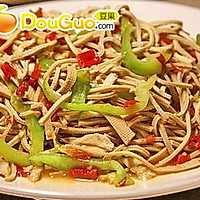 微波双椒豆腐丝