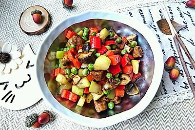 葫芦瓜炒素肉-蜜桃爱营养师私厨减肥健身糖尿病三高食谱