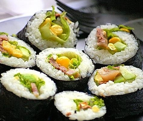 玉米金枪鱼寿司的做法