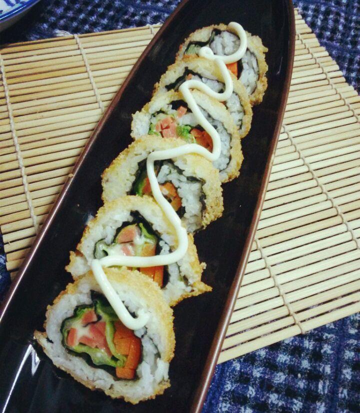黄金寿司的做法_【图解】黄金寿司怎么做如何做好吃