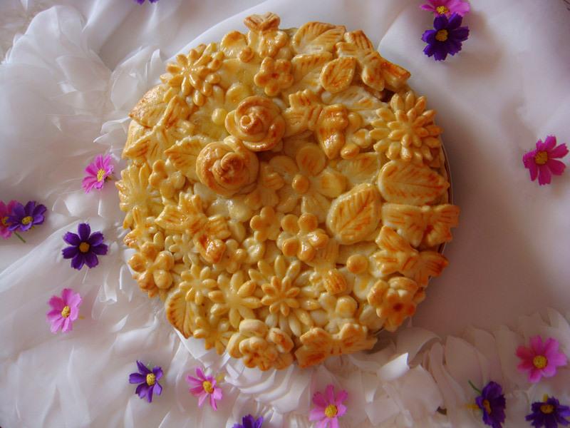 立体花朵苹果派的做法_【图解】立体花朵苹果派怎么做