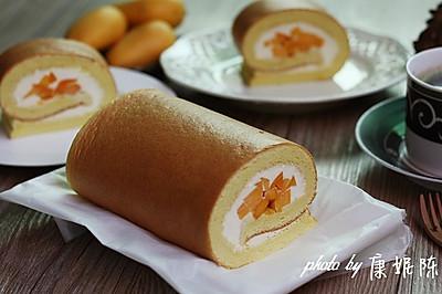 制作蛋糕卷的小窍门【芒果奶油蛋糕卷】