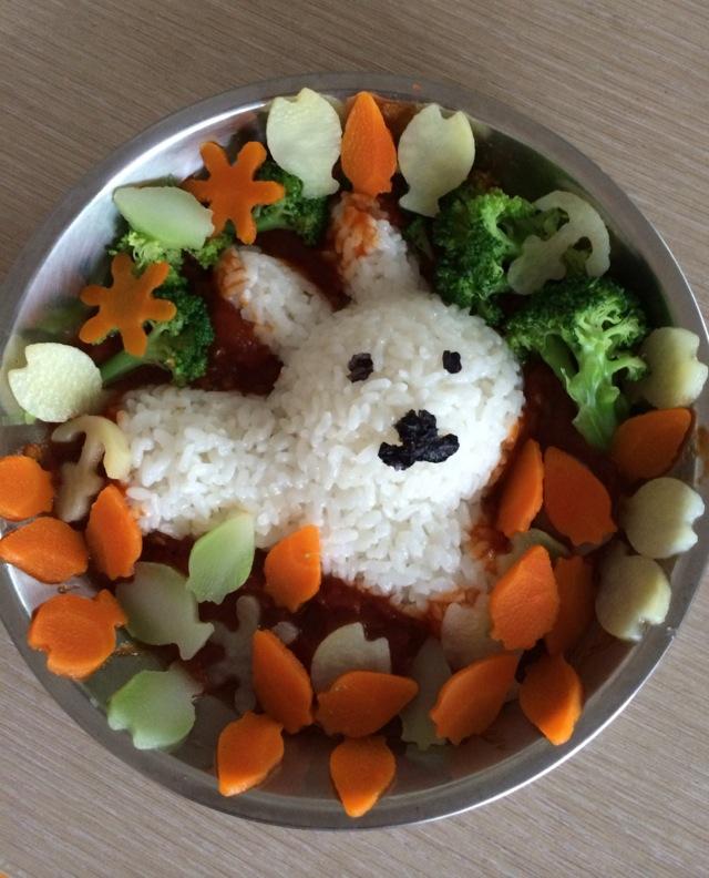 兔子宝宝饭的做法图解4