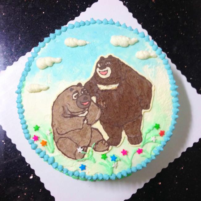 熊大熊二奶油蛋糕长帝烘培节
