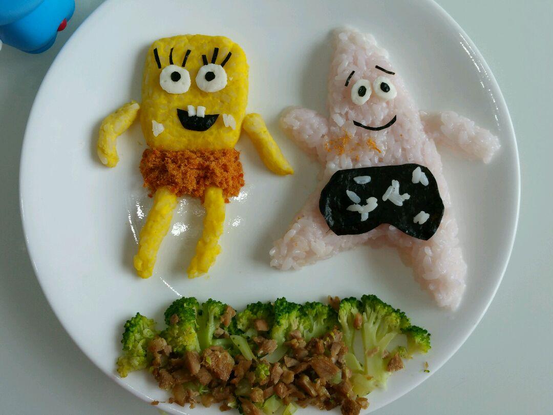 海绵宝宝与派大星卡通餐