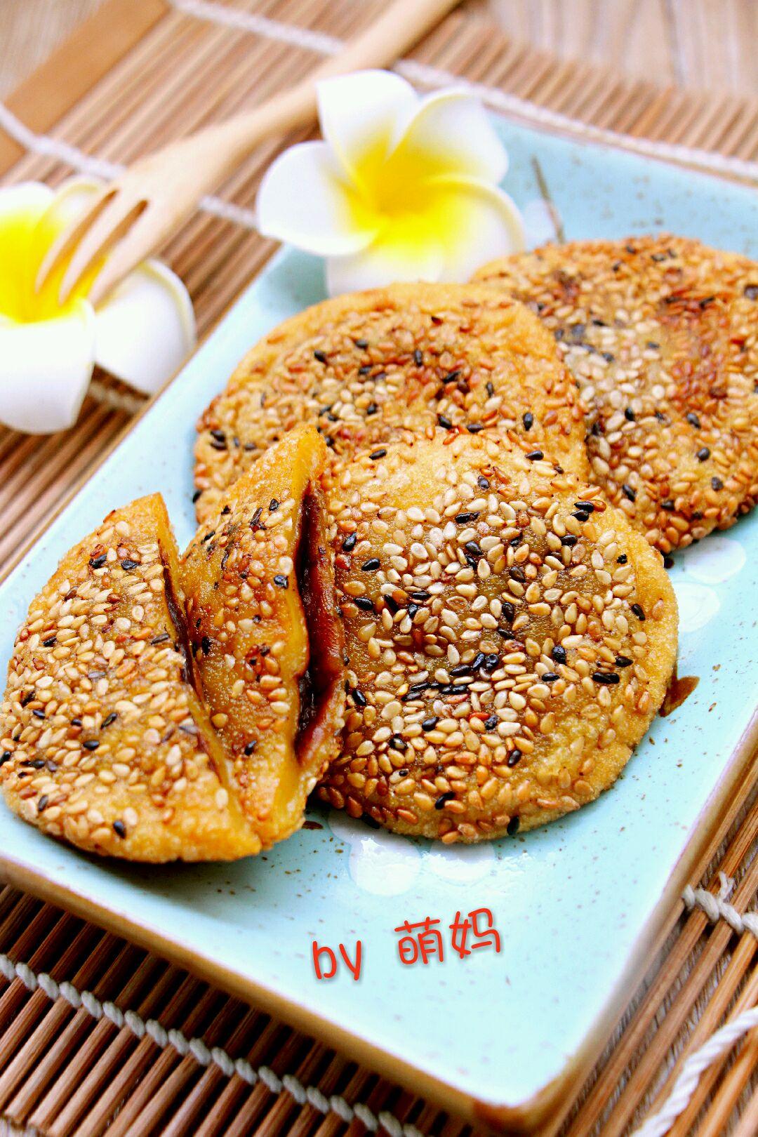 南瓜芝麻饼的做法_芝麻南瓜饼的做法_【图解】芝麻南瓜饼怎么做如何做好吃_芝麻