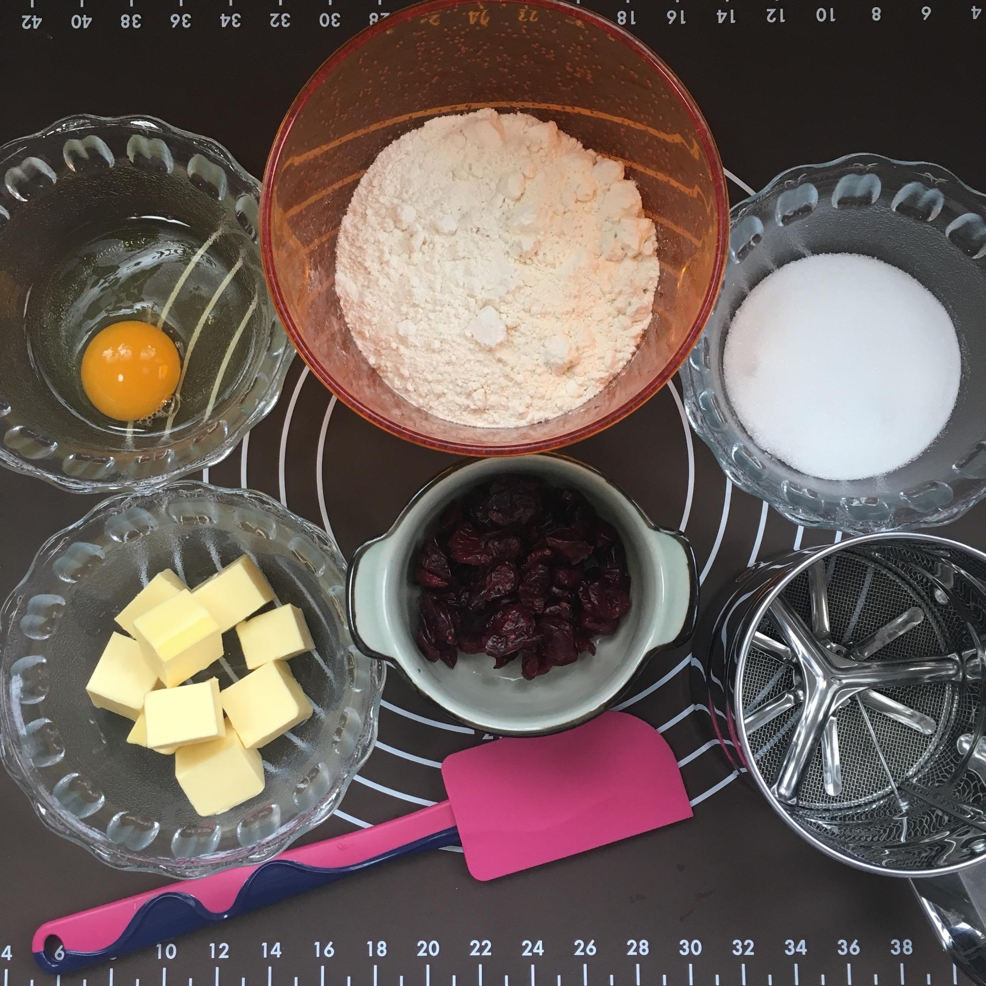 低糖无添加手工蔓越莓饼干的做法图解1