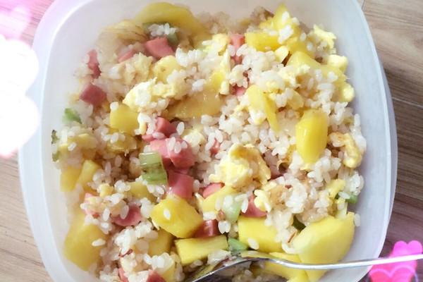 菠萝炒饭的做法_【图解】菠萝炒饭怎么做好吃