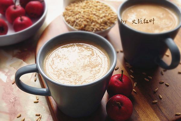 燕麦山楂奶昔