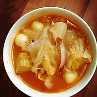 辣白菜粉丝汤