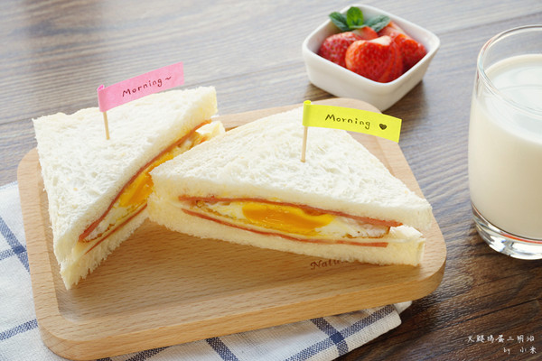火腿鸡蛋三明治#急速早餐#的做法