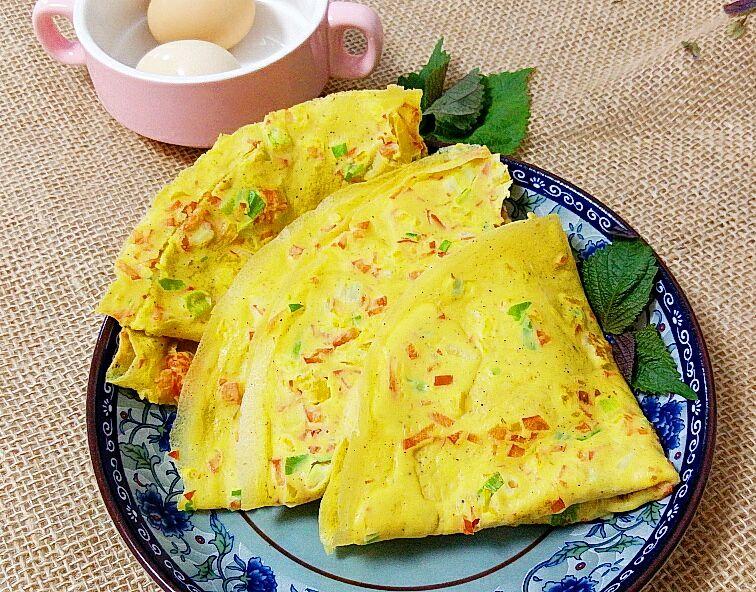 彩椒蛋饼#首农宝宝蛋试吃#的做法图解6