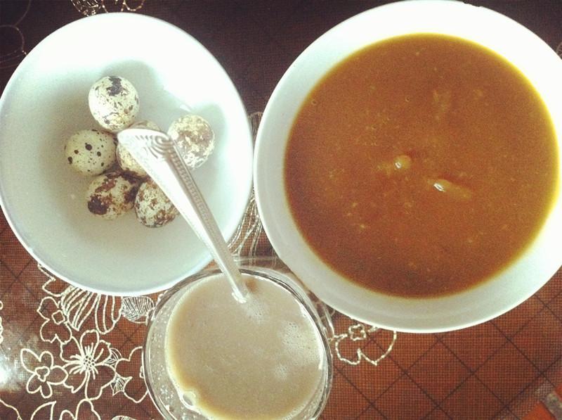 红枣蛋+生姜豆浆红薯糊+鹌鹑红豆黑豆黄红糖入冬食谱大全图片
