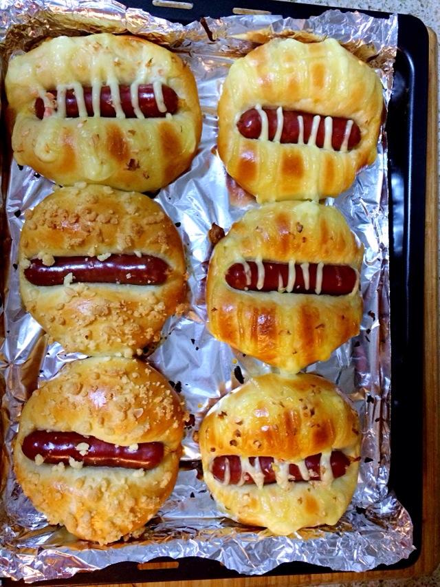 火腿沙拉圆面包